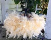 Feather tutu, champagne tutu, feather dress, costume, dress up, feathers, tutu, tulle tutu, flower girl, flower girl dress, wedding, baptism