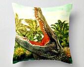 Alligator Pillow Cover, Alligator Pillow for Kids Room. Kids Room Pillow, Florida Gators Pillow, Florida Gators Gift