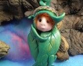 Baby Elfling Princess 'Everdene' Infant Bundle Seed-podling Swaddle OOAK Sculpt by Sculpture Artist Ann Galvin