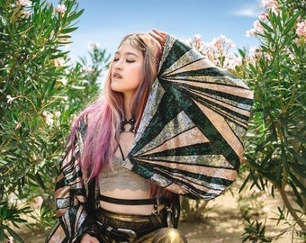 Smoothie Style Sequin Kimono- Burning Man Ibiza Festival Costume