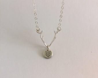 Chevron antler necklace