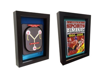 Back to the Future Flux Capacitor and Grays Sports Almanac Print 3D Art