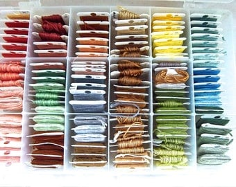 Ombre Embroidery Floss Set and Case Sewing and Needlepoint Thread Floss Set Ombre Earth and Sky Floss Set and Case