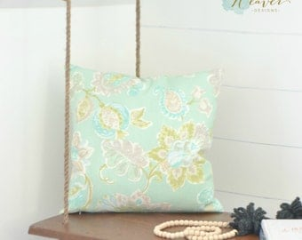 """Paisley green pillow cover 18"""""""