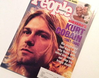 KURT COBAIN of Nirvana -- People Magazine of April 25, 1994 -- Great Photos and Articles. Carrie Fisher --Review of her Novel, & Lots More!