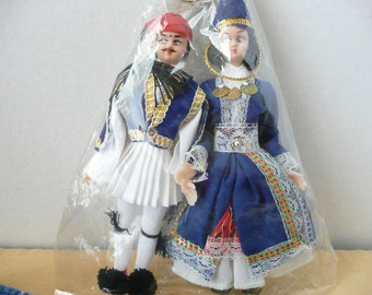 Greek Costume Dolls - International Costume Dolls - Souvenir of Greece