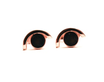 Swank Gold Eye Cuff Links