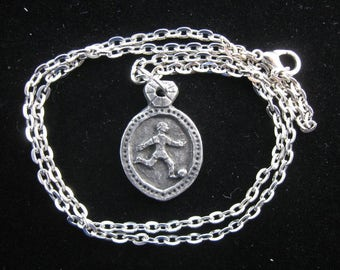 St. Luigi Scrosoppi: Patron of Soccer Players/ Footballers, Handmade Necklace