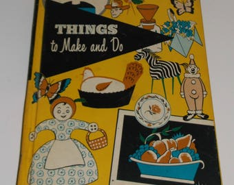Vintage 1964 Things To Make and Do HB Crafts Book for Children  Summertime Fun