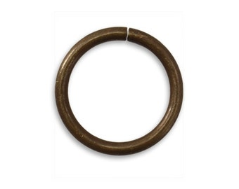 Vintaj Brass 20mm 11g Smooth Round Open Jump Ring 11 Gauge Jumprings Antiqued Brass Ox Qty 2