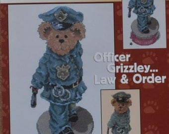 Officer Grizzley Law & Order -The Boyds Collection - Chart #BB014