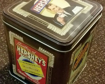 Vintage Hershey's Millennium series collectible tin, cannister #2 from 1997, home kitchen rustic decor