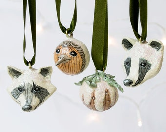 Christmas entertaining and decor etsy for Badger christmas decoration