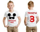 "Mickey Mouse ""Birthday Boy"" Toddler Youth Boy White Tee  Personalized Name and Age Number on Back Cool Mickey Mouse Custom Boy Disney Shirts"