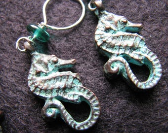 Stitch markers knitting | crochet | seahorse charm | animals | handmade | sea life | supplies