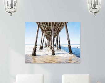 Large Canvas Art, Pier, Beach Canvas, Gallery Wrap, San Diego, Coastal Decor, Large Wall Art Beach House Art Seaside, Living Room Wall Decor