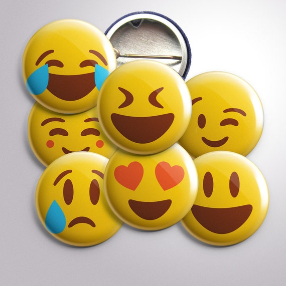 "Emoji 1"" Buttons"