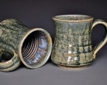 Pottery Mug Stoneware Ceramic Coffee Cup Handmade Mug Antique