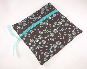Wet Bag Cloth Pad Wet Bag Brown Aqua Swirls