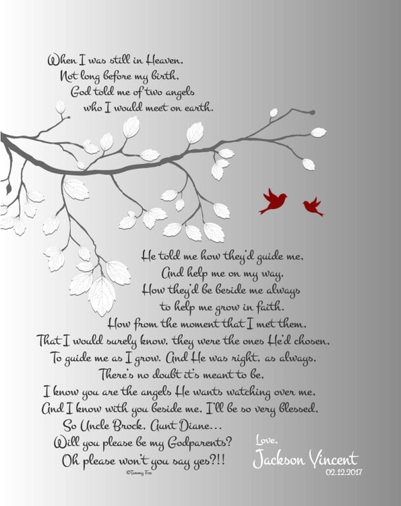 Will You Be My Godmother Poem Will You Be My Godfather