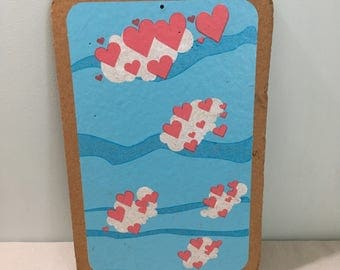 Vintage Hearts Bulletin Board