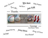 Personalized Coach's gift - Baseball coach - Team signatures - 11x14- Baseball Team Gift