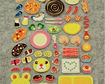 Mixed Sweet Puffy Food Stickers