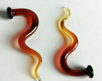 Sunstruck 6g gauged talons ear plugs earrings for stretched piercings