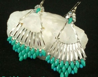 Turqouise and Silver Earrings
