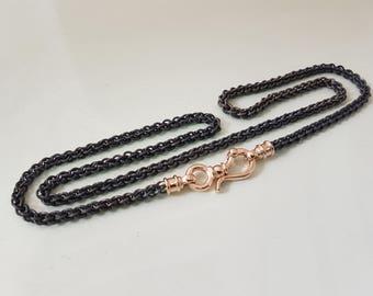 NECKLACE GOLD TITANIUM /necklace chain forman/ Titanium Necklace Chain / Titanium Jewelry for men / Chain Necklace Titanium Chain