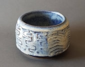 Textured Tea Bowl Drinking Cup Trinket Pot Ice Blue
