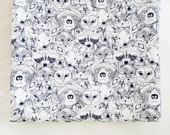 Contoured Changing Pad Cover - Animal Menagerie