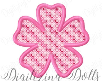 Hibiscus Flower Applique Machine Embroidery Design 3x3 4x4 5x7 6x10 Hawaii Hawaiian INSTANT DOWNLOAD