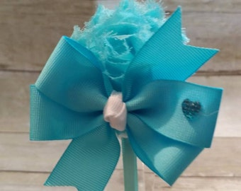 Blue Headband, Light Blue Headband, Headband, Headband with Bow, Girls Headband, Satin Lined Headband, Chiffon Headband, Ribbon Headband