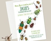 Bugs Birthday Invitations - Watercolor/Creepy Crawly/Insect Party--Special Listing for Digital File
