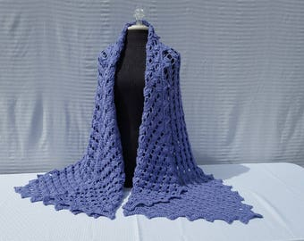 Custom designed hand crocheted shawl, wedding shawl, rectangle shawl wrap, bridesmaids cover up, red carpet fashion