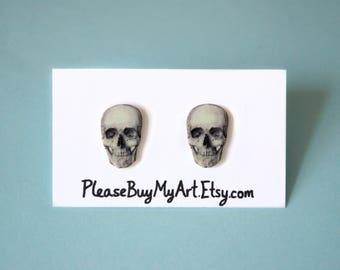 Skull Grunge Stud Earrings