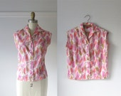 60s blouse / Telephone Hour / vintage 1960s blouse