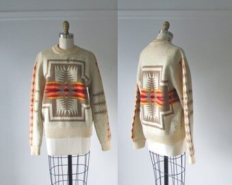 vintage Pendleton sweater / 1970s wool sweater