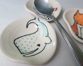 Whale Spoon Rest Animal Themed Ceramics Whale Pottery Small Rest for Coffee Spoon Cute Pottery