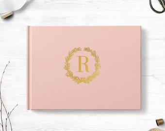 Blush guest book, Landscape or Portrait, Wedding guest book, Various colors