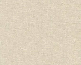 Linen Essex Yarn Dyed 478, Natural Limestone fabric, Quilt Backing, Quilting fabric, Apparel Fabric, Linen fabric, Robert Kaufman