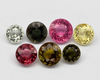 TOURMALINE (32526) -->>  Gorgeous PARCEL ( 7 Gems )  Stunning Tourmaline - Mozambique Mined -Faceted