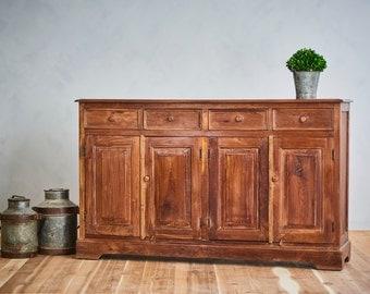 Antique Reclaimed Sideboard Indian Industrial Farm Chic Teak Wood Sideboard Buffet Media Console Vanity