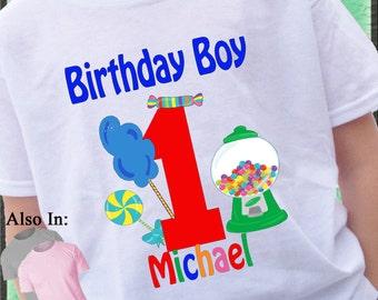 BOY Candy Shirt - Birthday Candy Shirt - Candyland Personalized Shirt - Candy Birthday Shirt - Birthday Party Shirt Candyland Shirt