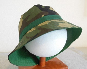 Children's Camo Sunhat - 3-4 years