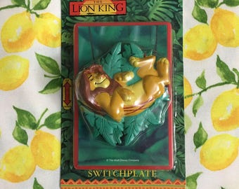 Vintage NIB Disney The Lion King Adult Simba 3D Light Switch Cover, Switchplate Cover, Vintage Deadstock