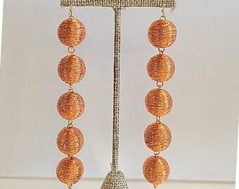Bon Drop Earrings // 5 tier with a hook // Rose Gold
