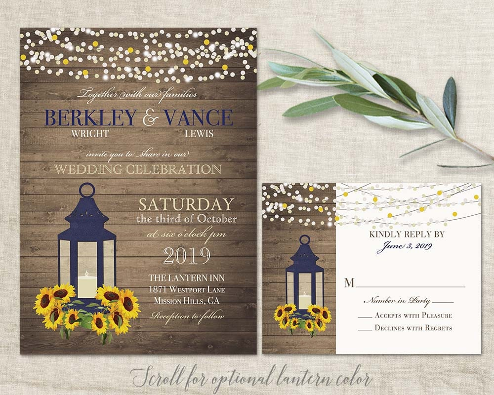 Sunflower invitation – Sunflower Wedding Invites