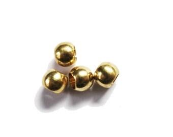 6 Golden brass dreadlock beads